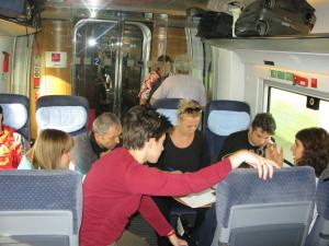 In the train between Berlin - Dresden - Halle