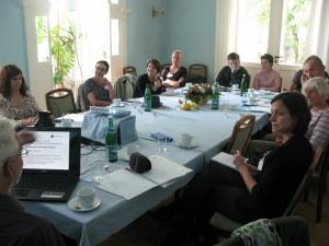 Meeting at Café Stuttgart (Residence Center for refugees)