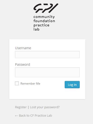 login form cfpracticelab.org
