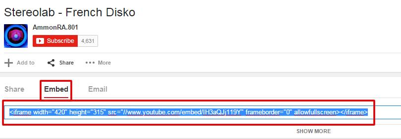 add youtube